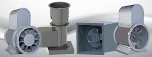 Corrosion-Resistant Fiberglass Fans