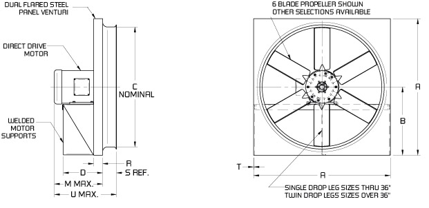 Apw Direct Drive Panel Fans Continental Fan