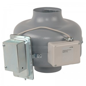 Dryer Exhaust Fan with mounted pressure switch
