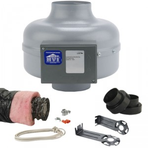 Retrofit bathroom ventialtion fan kit