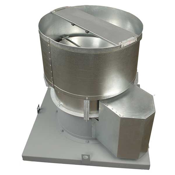 Industrial Roof Ventilation : Ubv belt drive upblast roof ventilators continental fan