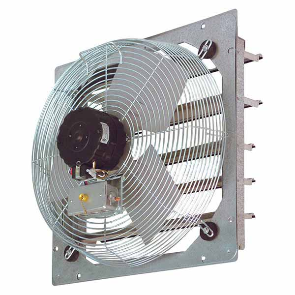 Commercial Ventilation Fans Industrial : Sef shutter mount wall exhaust fans continental fan