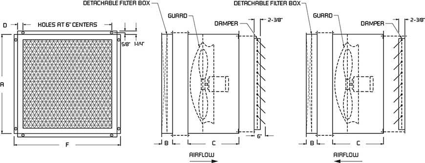 Aff Filter Exhaust Fans Continental Fan