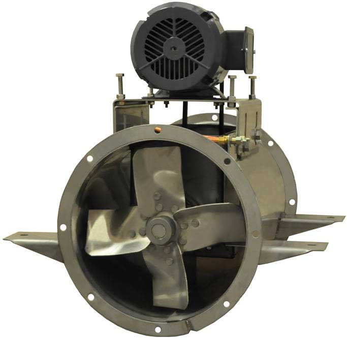 Tube Axial Fans : All stainless steel tubeaxial fans continental fan