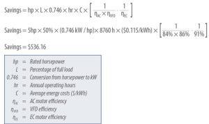 Calculating EC Motor Efficiency
