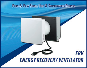 Energy recovery ventilator (ERV) available from Continental Fan