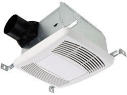 Spot ventilation with an exhaust fan